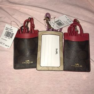 Coach ID Lanyard w/ Card Slots in Signature Canvas